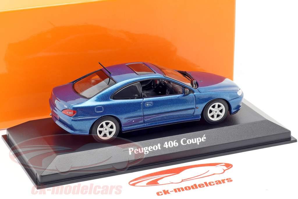 Peugeot 406 Coupe Baujahr 1997 blau metallic 1:43 Minichamps