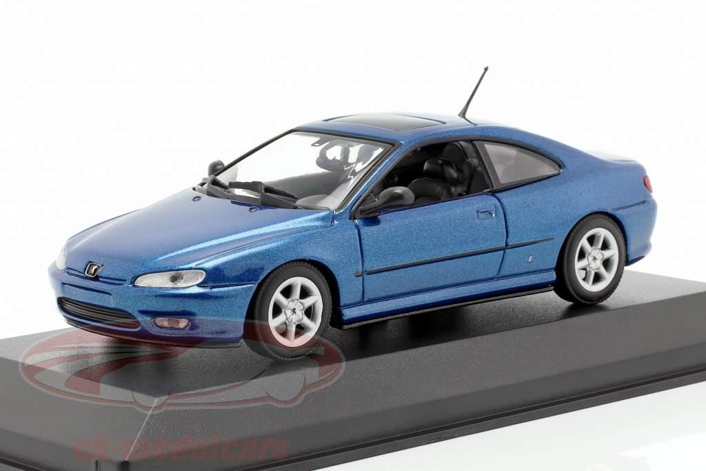 Peugeot 406 Coupe Bouwjaar 1997 blauw metalen 1:43 Minichamps