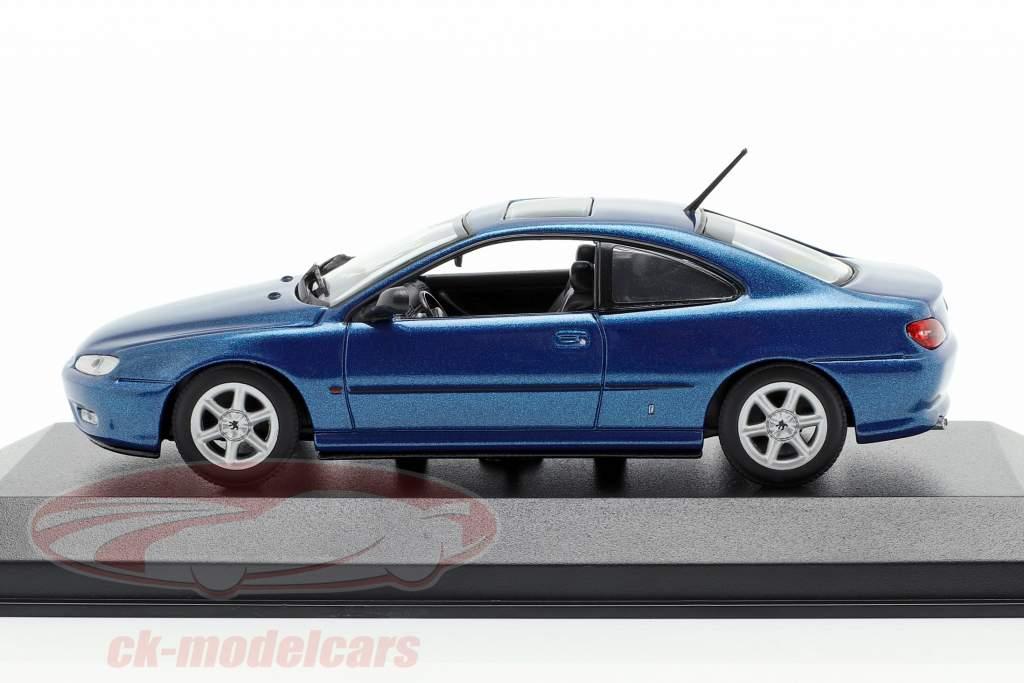 Peugeot 406 Coupe año de construcción 1997 azul metálico 1:43 Minichamps