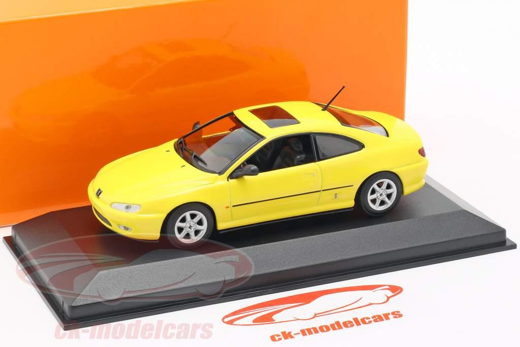 Peugeot 406 Coupe year 1997 yellow 1:43 Minichamps