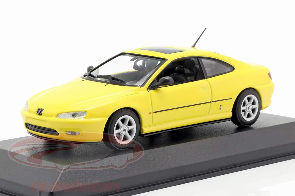 Peugeot 406 Coupe año de construcción 1997 amarillo 1:43 Minichamps