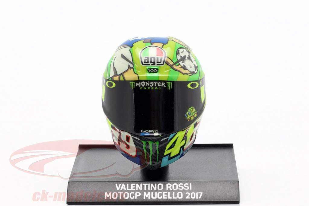 Valentino Rossi MotoGP Mugello 2017 AGV casco 1:10 Minichamps