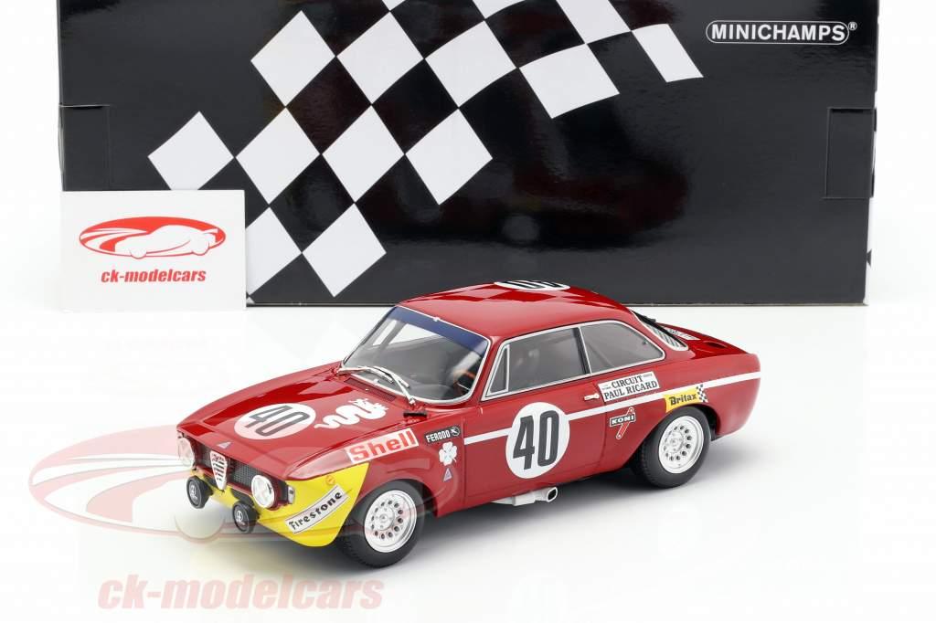 Alfa Romeo GTA 1300 Junior #40 ganador Div.1 12h Paul Ricard 1971 1:18 Minichamps