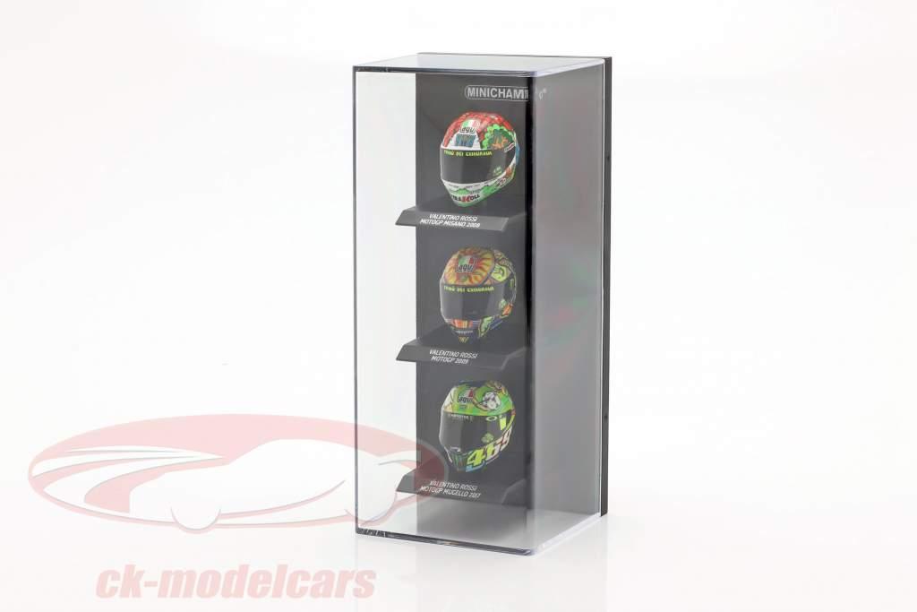 acrilico vetrina per caschi in scala 1:10 nero Minichamps