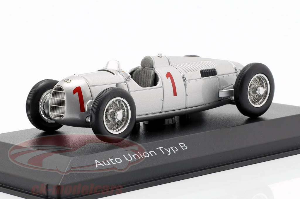 Auto Union Typ B #1 zilver 1:43 Minichamps