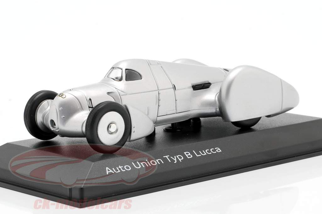 Auto Union Typ B Lucca zilver 1:43 Minichamps