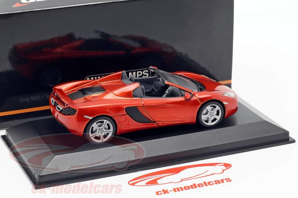 McLaren MP4-12C Spider Jaar 2012 vulkaan Orange metallic 1:43 Minichamps