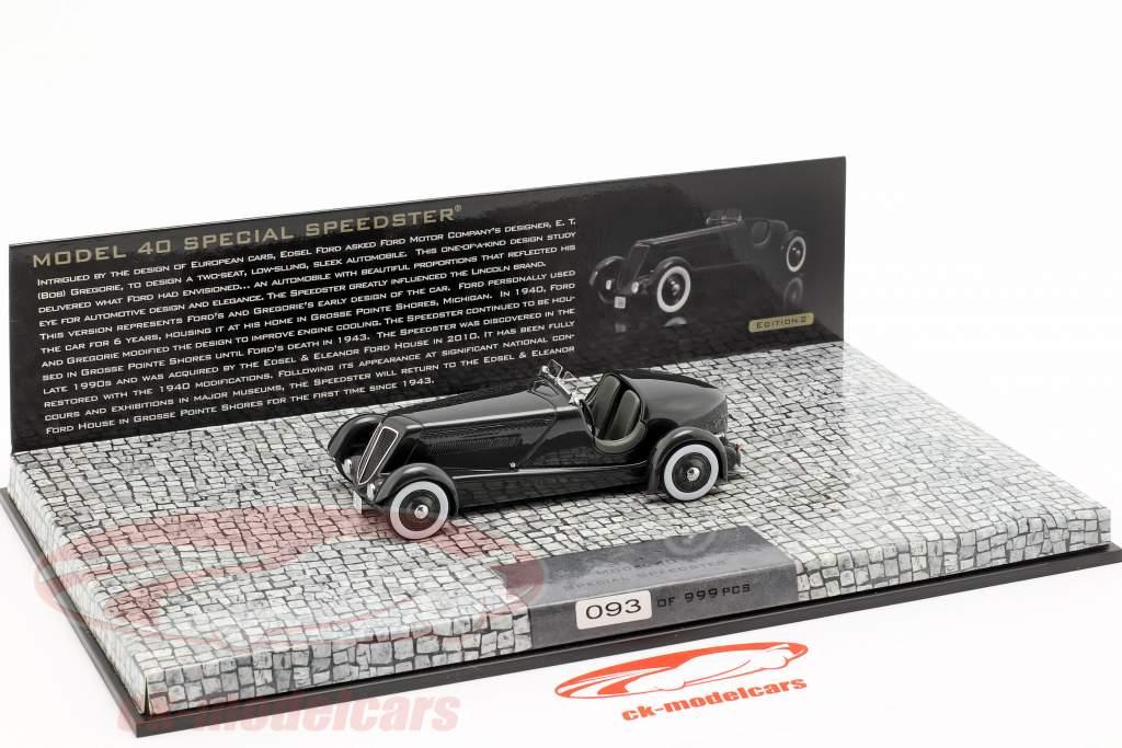 Ford Edsel Special Speedster Ano 1934 preto 1:43 Minichamps