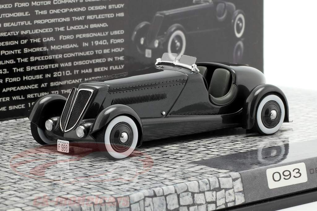 Ford Edsel Special Speedster Year 1934 black 1:43 Minichamps