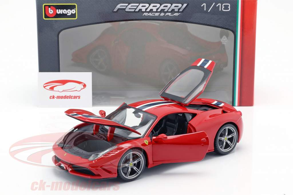 Bburago 1 18 Ferrari 458 Speciale Red White Blue 18 16002r Model Car 18 16002r 4893993160020
