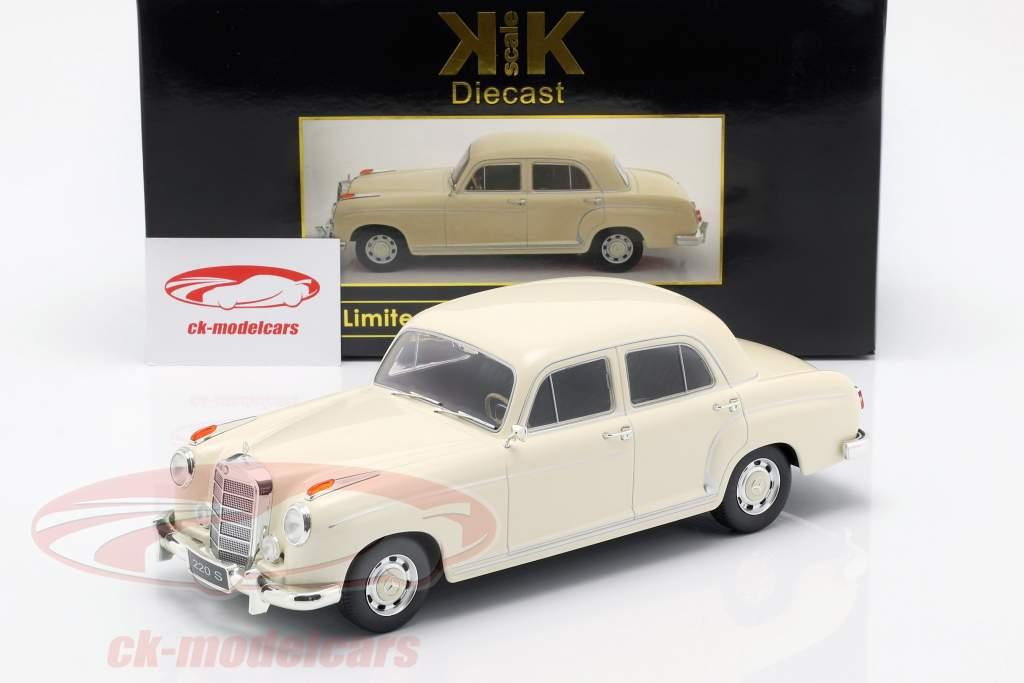 Mercedes-Benz 220 S sedan (W180II) Opførselsår 1956 creme hvid 1:18 KK-Scale