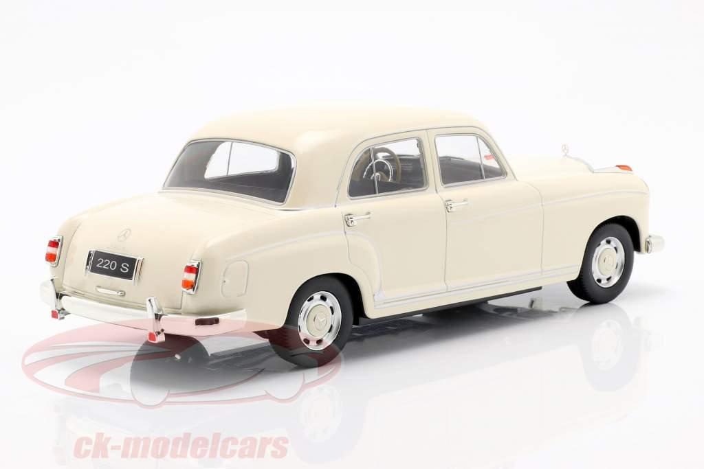 Mercedes-Benz 220 S sedan (W180II) ano de construção 1956 creme branco 1:18 KK-Scale