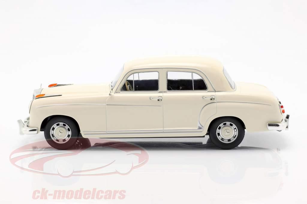 Mercedes-Benz 220 S berline (W180II) année de construction 1956 crème blanc 1:18 KK-Scale