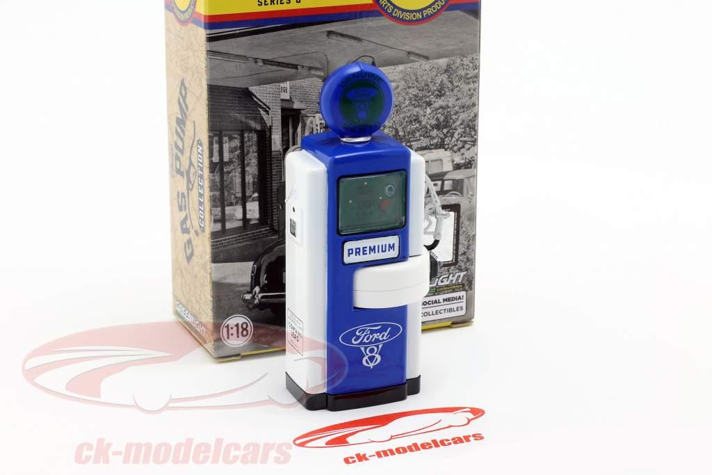 gas pump Ford Genuine Parts blue / white / green 1:18 Greenlight