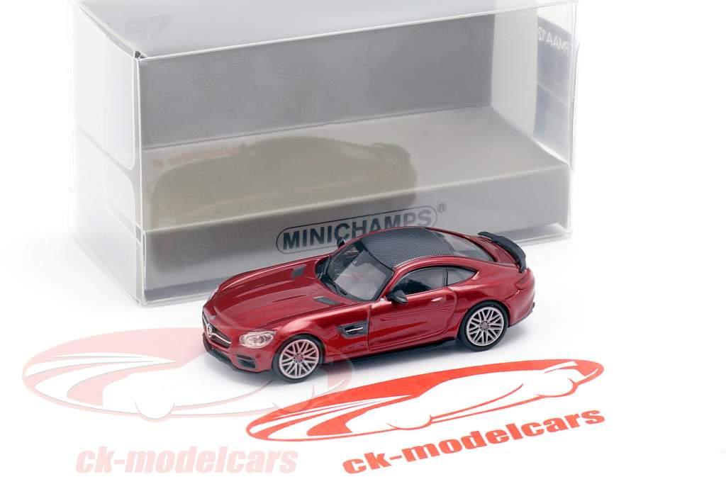 Brabus 600 basato su Mercedes-Benz AMG GT S anno di costruzione 2015 rosso metallico 1:87 Minichamps