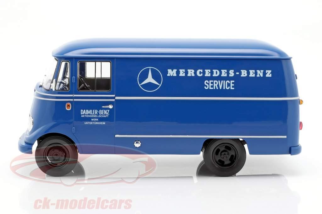 Mercedes-Benz L319 Service Werk Untertürkheim Year 1960-1966 blue 1:18 Norev