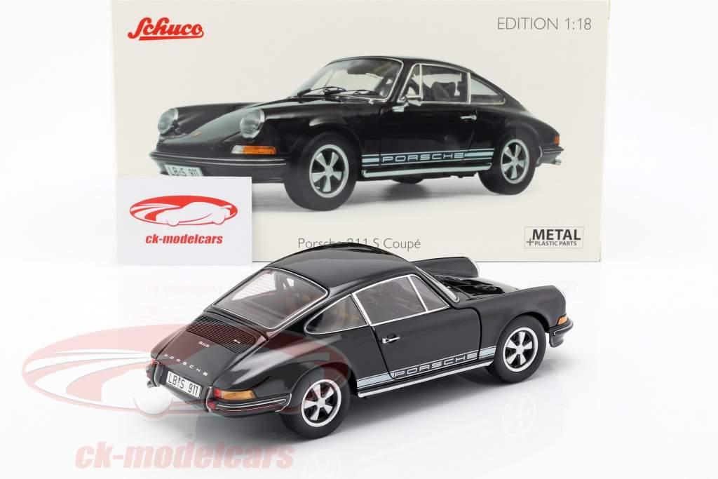 Porsche 911 S coupe año de construcción 1973 negro 1:18 Schuco