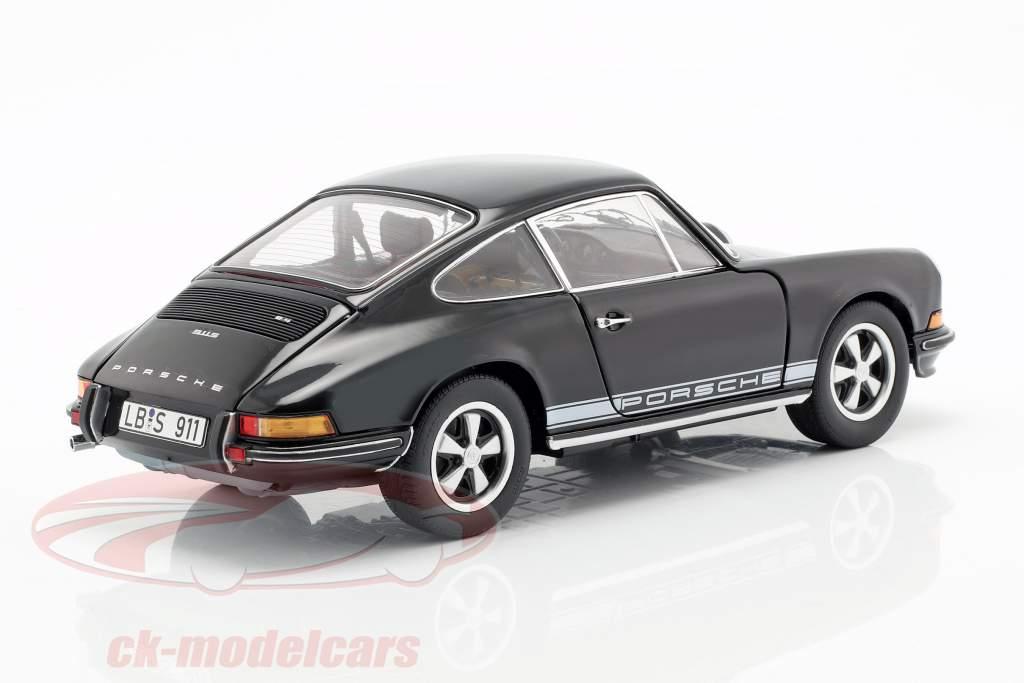 Porsche 911 S coupe Opførselsår 1973 sort 1:18 Schuco