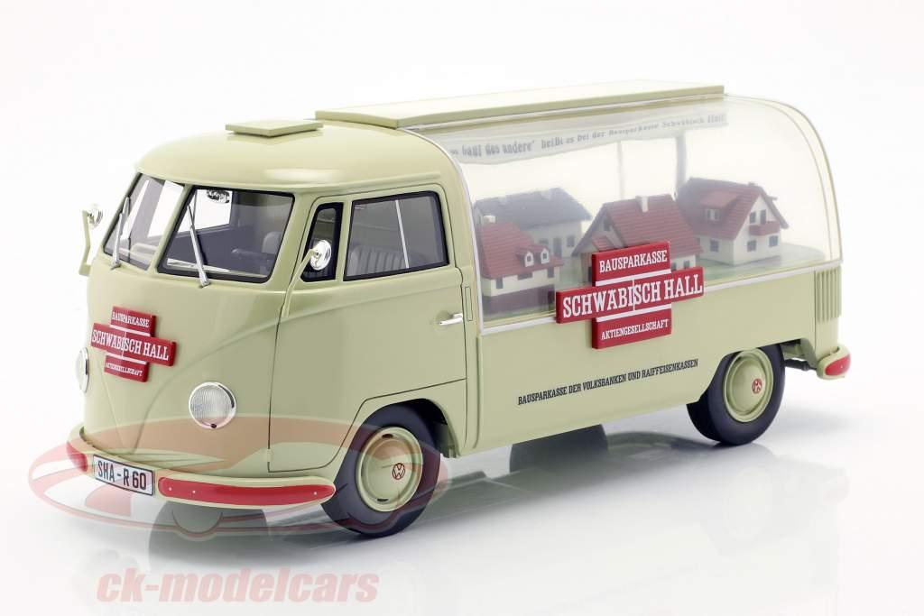 Volkswagen VW T1a ônibus Schwäbisch Hall bege / vermelho 1:18 Schuco