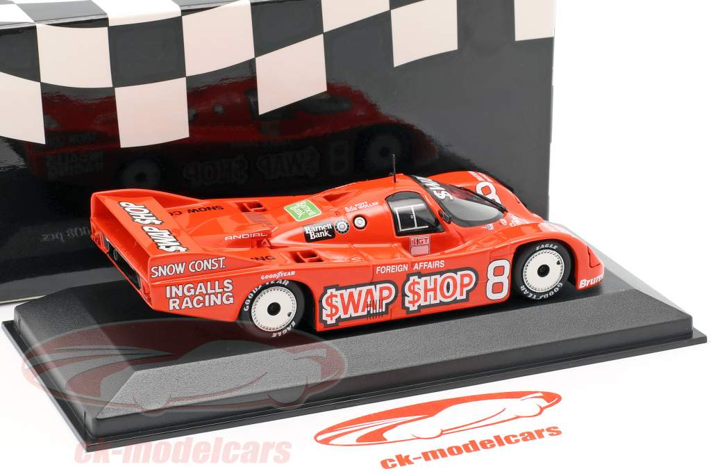 Porsche 962 IMSA #8 Vinder 12h Sebring 1985 Foyt, Wollek 1:43 Minichamps