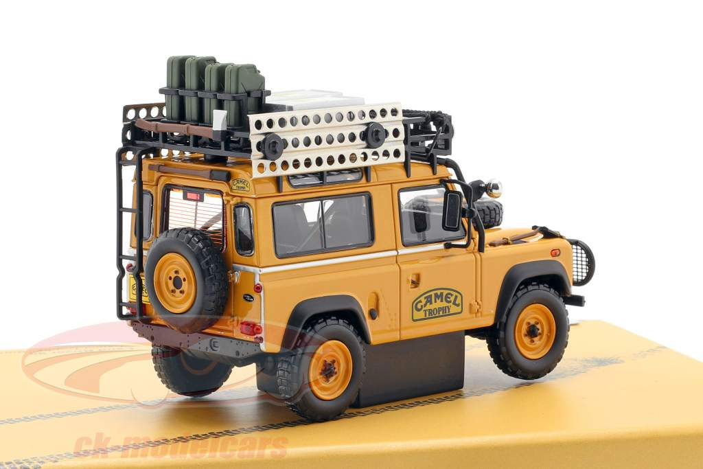 Land Rover verdediger 90 Camel Trophy Borneo 1985 geelbruin 1:43 Almost Real
