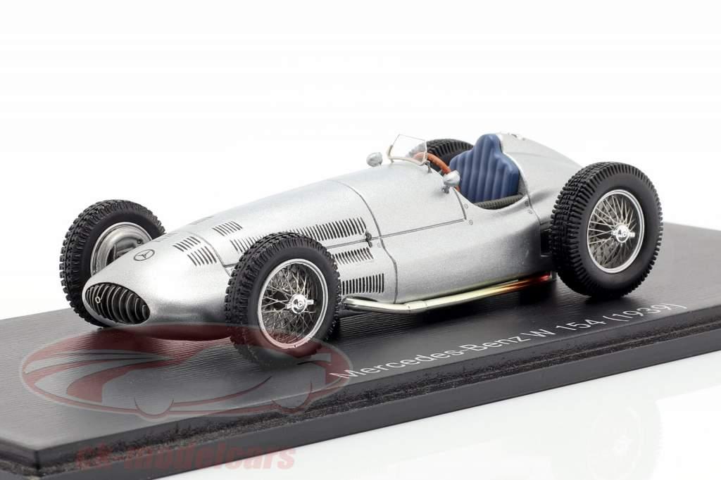 Mercedes-Benz W 154 / W 163 Année 1939 argent 1:43 Spark
