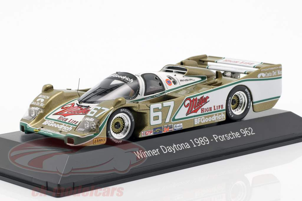 Porsche 962 #67 Vincitore 24h Daytona 1989 Wollek, Bell, Andretti 1:43 Spark