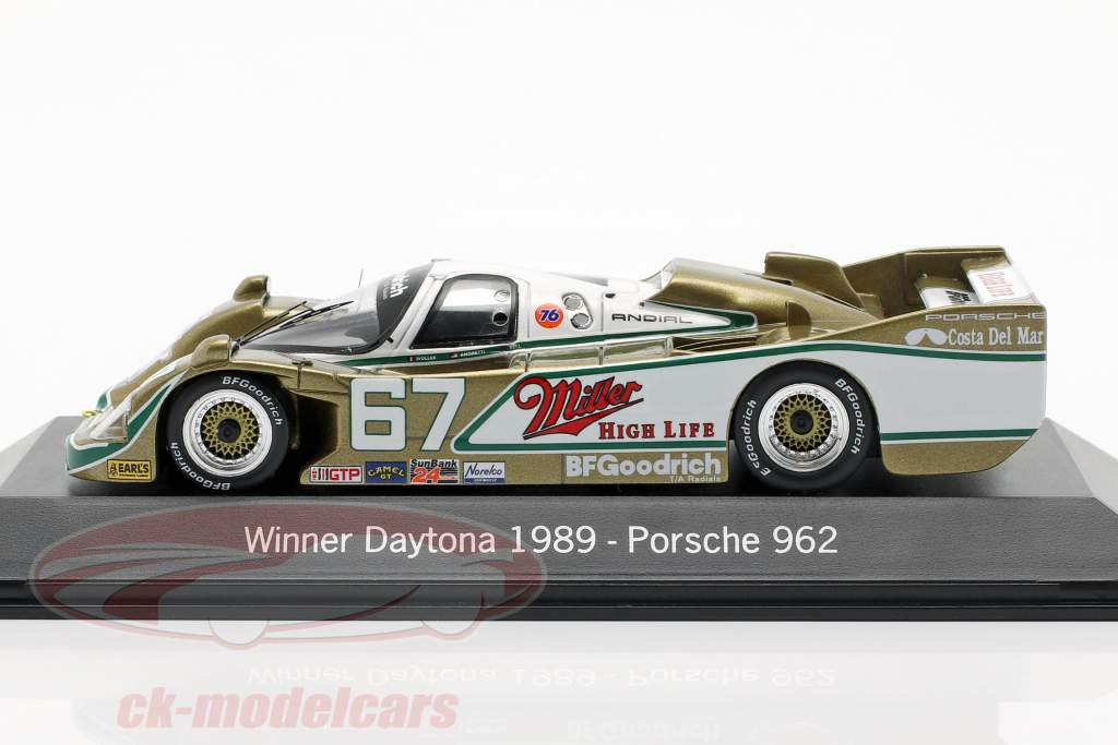 Porsche 962 #67 Vencedora 24h Daytona 1989 Wollek, Bell, Andretti 1:43 Spark