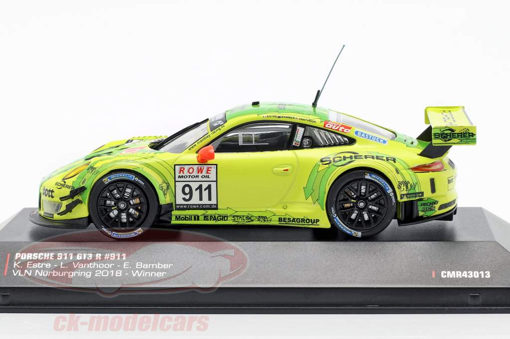 Porsche 911 (991) GT3 R #911 vencedor VLN 1 Nürburgring 2018 Manthey Grello 1:43 CMR