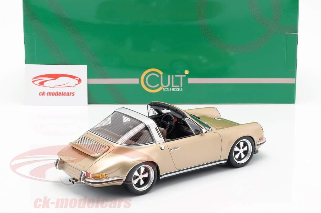 Porsche 911 (964) Targa Singer ano de construção 1990 ouro 1:18 Cult Scale
