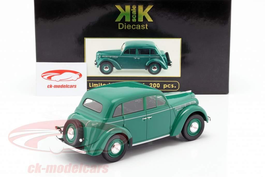 Moskwitsch 400 Bouwjaar 1946 groen 1:18 KK-Scale