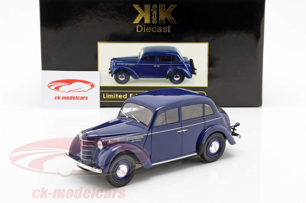 Moskwitsch 400 année de construction 1946 bleu foncé 1:18 KK-Scale