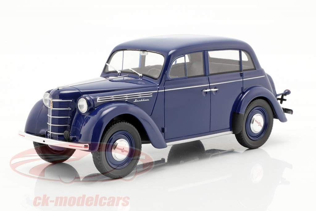Moskwitsch 400 ano de construção 1946 azul escuro 1:18 KK-Scale