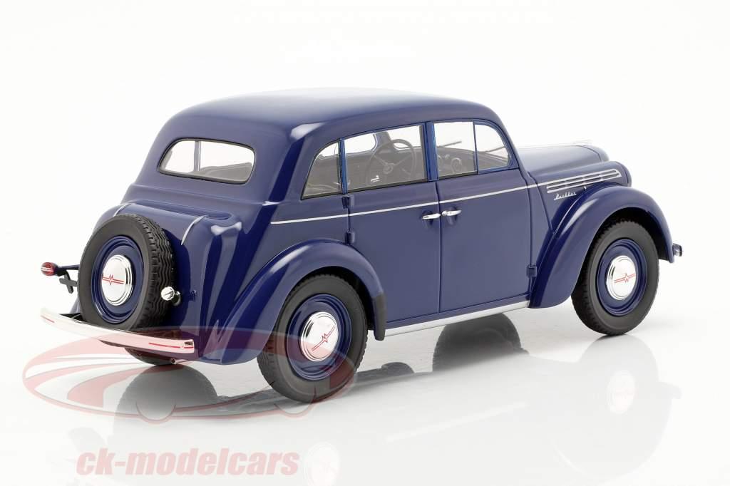 Moskwitsch 400 anno di costruzione 1946 blu scuro 1:18 KK-Scale