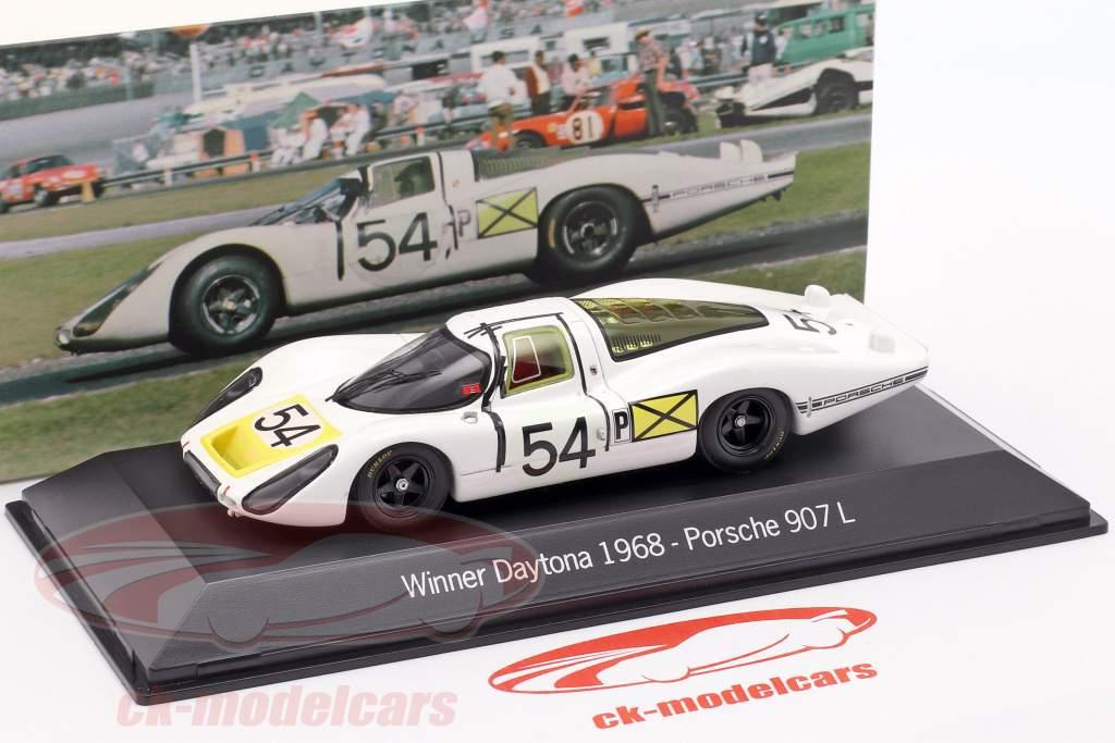 Porsche 907 LH #54 Winnaar 24h Daytona 1968 1:43 Spark