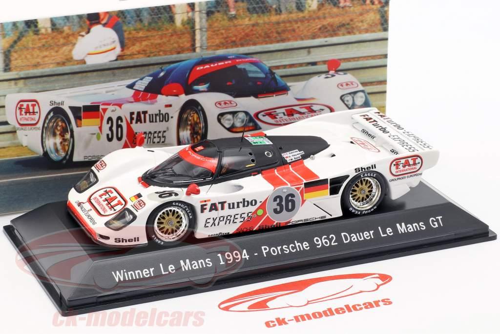 Dauer Porsche 962 #36 Vencedor 24 LeMans 1994 Dalmas / Haywood / Baldi 1:43 Spark