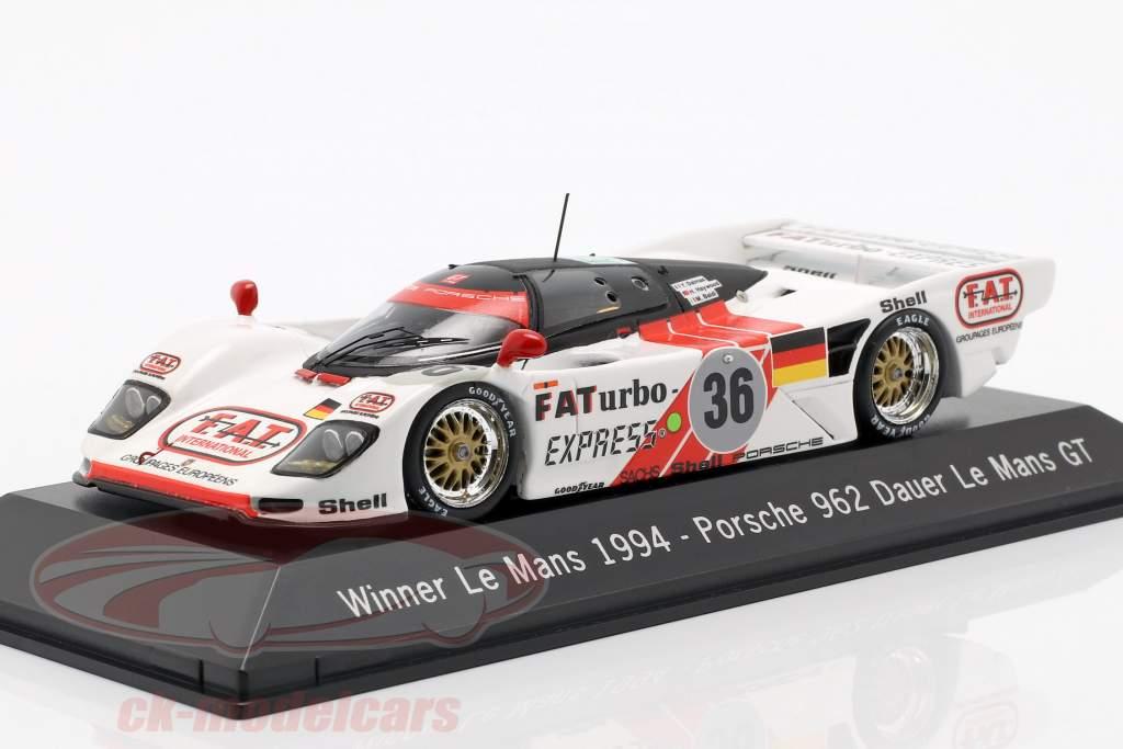 Dauer Porsche 962 #36 Vincitore 24 LeMans 1994 Dalmas / Haywood / Baldi 1:43 Spark