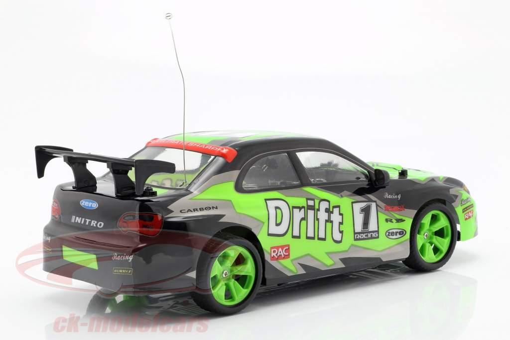 X-Tuner R / C drift auto met pylonen groen / zwart / grijs 1:14 NewRay