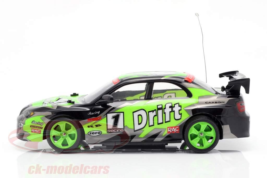 X-Tuner R / C Drift Car med Pylons grøn / sort / grå 1:14 NewRay