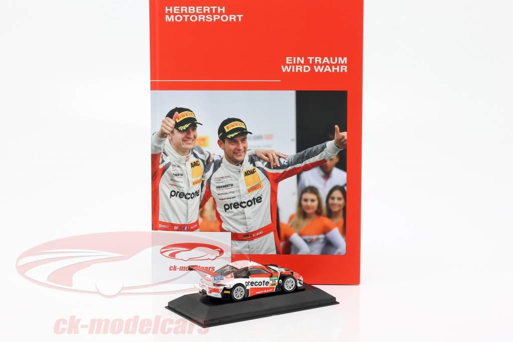 Set GT Masters kampioen 2018: boek met Porsche 911 (991) GT3 R #99 1:43 CMR