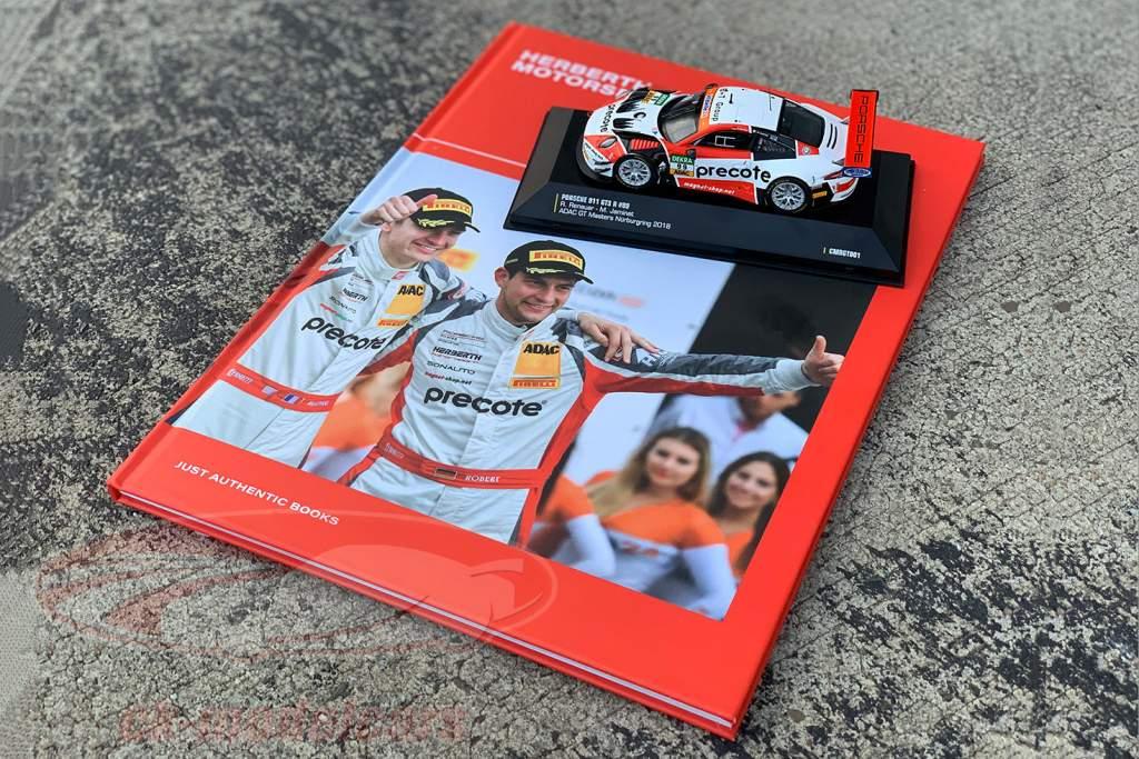 Set GT Masters Champion 2018: Buch mit Porsche 911 (991) GT3 R #99 1:43 CMR