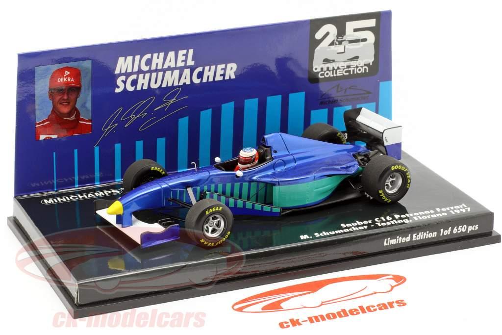 M. Schumacher Sauber C16 teste Fiorano fórmula 1 1997 1:43 Minichamps