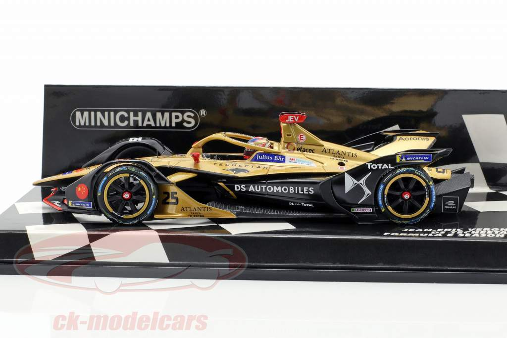 Jean-Eric Vergne DS E-Tense FE 19 #25 formula E campione 2018/19 1:43 Minichamps