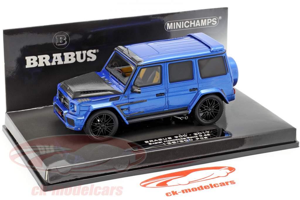 Brabus 900 based on Mercedes-Benz G 65 year 2017 dark blue 1:43 Minichamps