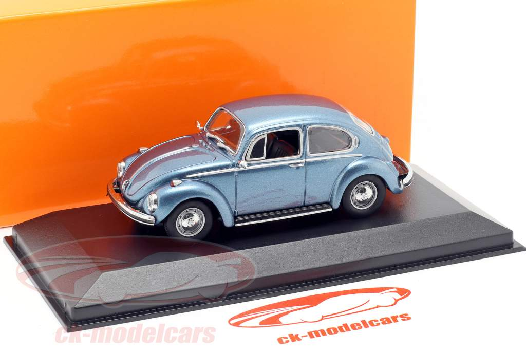 Volkswagen VW 1302 year 1970 blue metallic 1:43 Minichamps