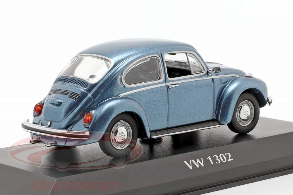 Volkswagen VW 1302 Bouwjaar 1970 blauw metalen 1:43 Minichamps