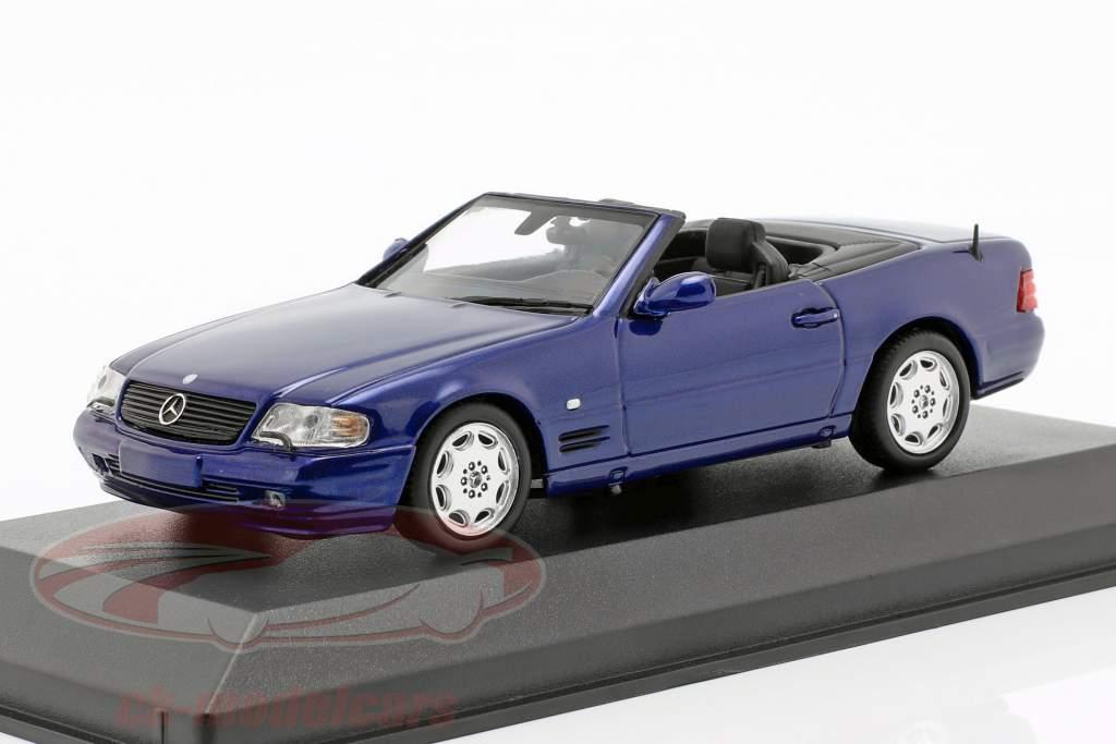 Mercedes-Benz SL año de construcción 1999 azul metálico 1:43 Minichamps