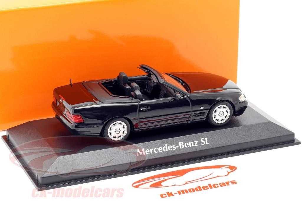 Mercedes-Benz SL Baujahr 1999 schwarz 1:43 Minichamps