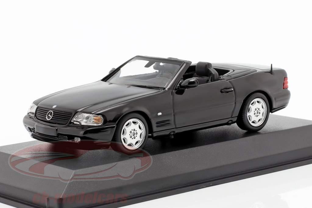 Mercedes-Benz SL ano de construção 1999 preto 1:43 Minichamps