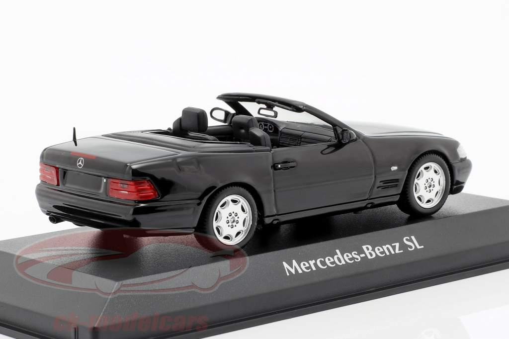 Mercedes-Benz SL année de construction 1999 noir 1:43 Minichamps